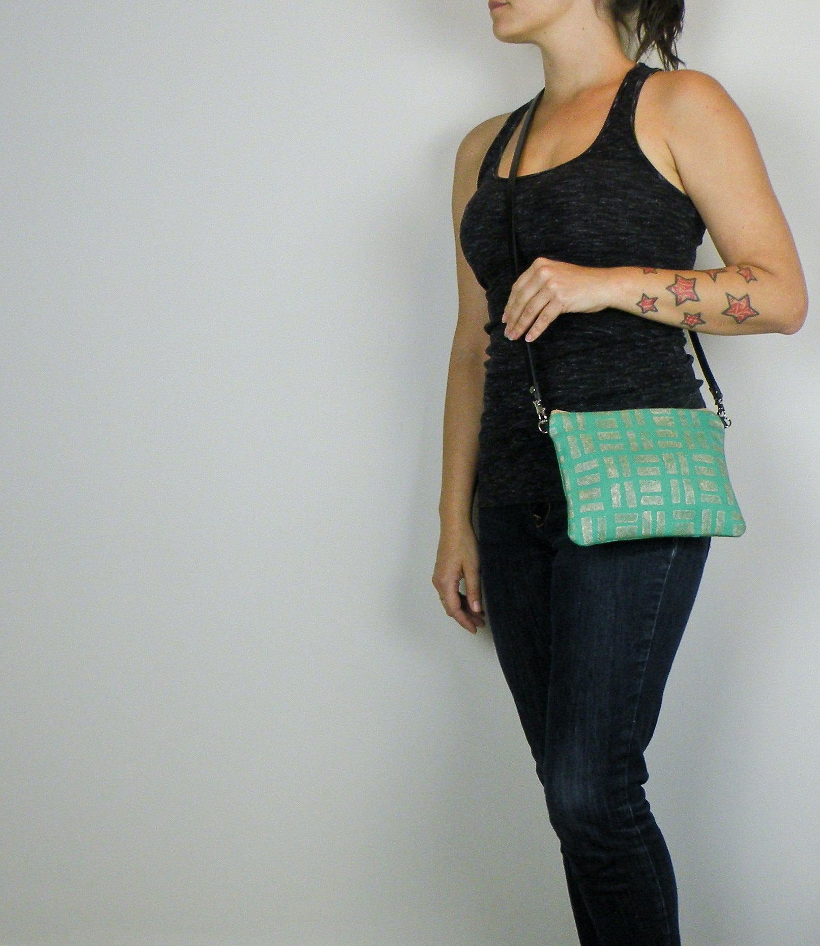 Tiny Purse in Emerald and Gold - Starlight Bags