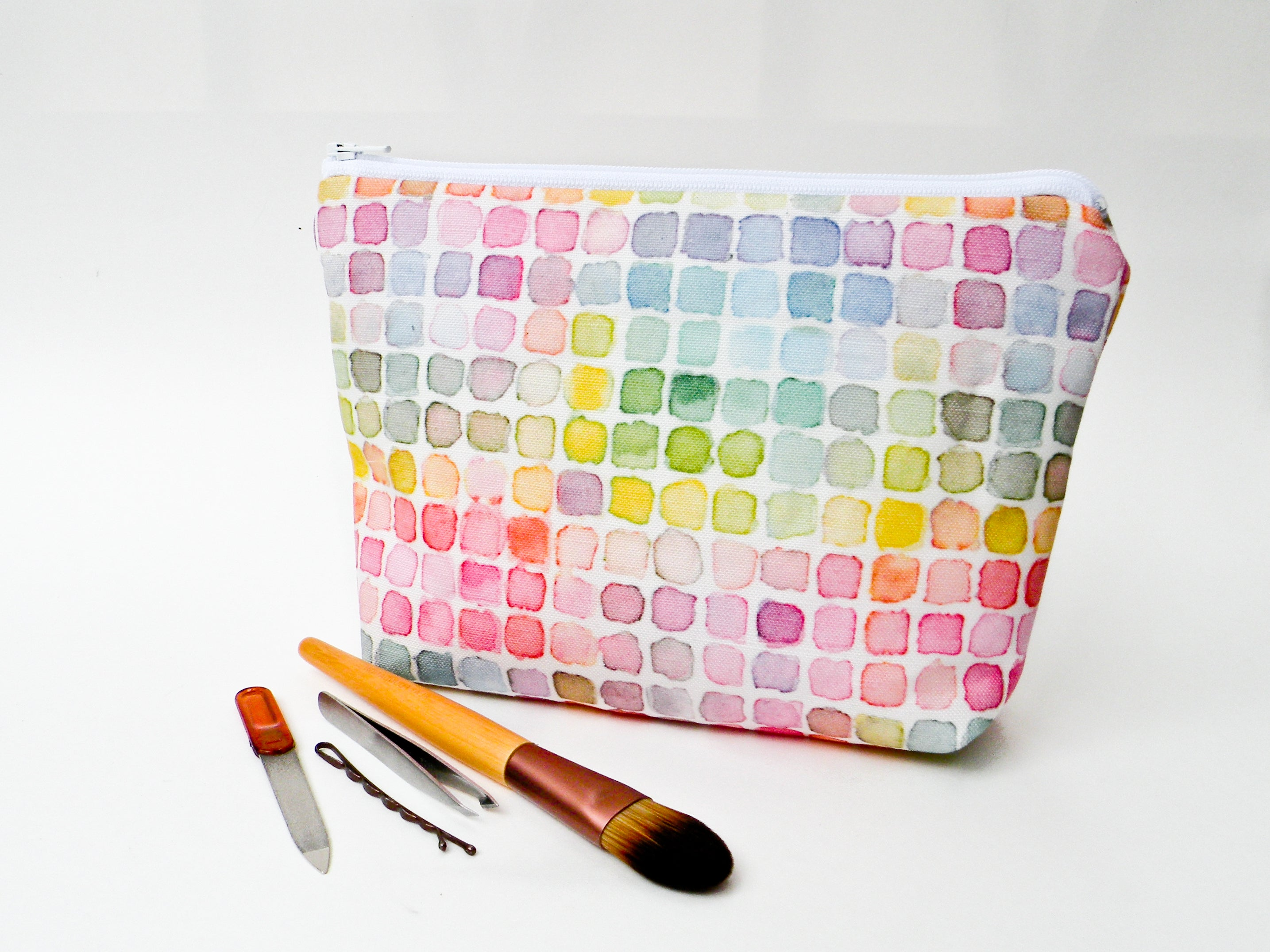 Rainbow Watercolor Cosmetic Bag - Starlight Bags