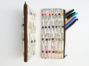 Watercolor Chart Pencil Case - Starlight Bags