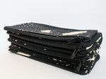 Bleach Black Pencil Cases with speckled bleach pattern - Starlight Bags