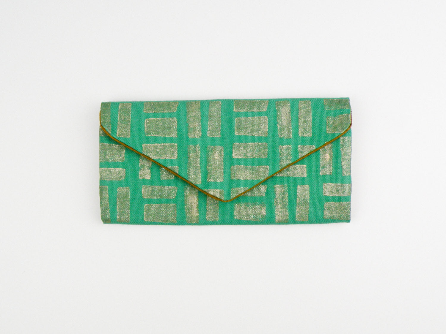 Emerald and Gold Wallet - Starlight Bags