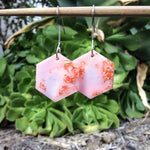 Hexagon Earrings - Bubblegum Pink