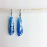 Ice Blue Metallic Gem Earrings - Starlight Bags