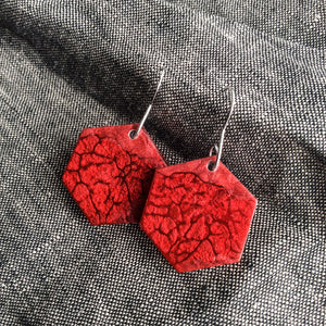 Ruby Red Earrings - Starlight Bags