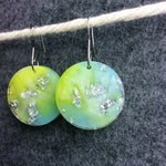 Pastel Rainbow Moon Earring with Silver Flakes - Starlight Bags