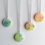 Pastel Rainbow and Silver Moon Necklace - Starlight Bags