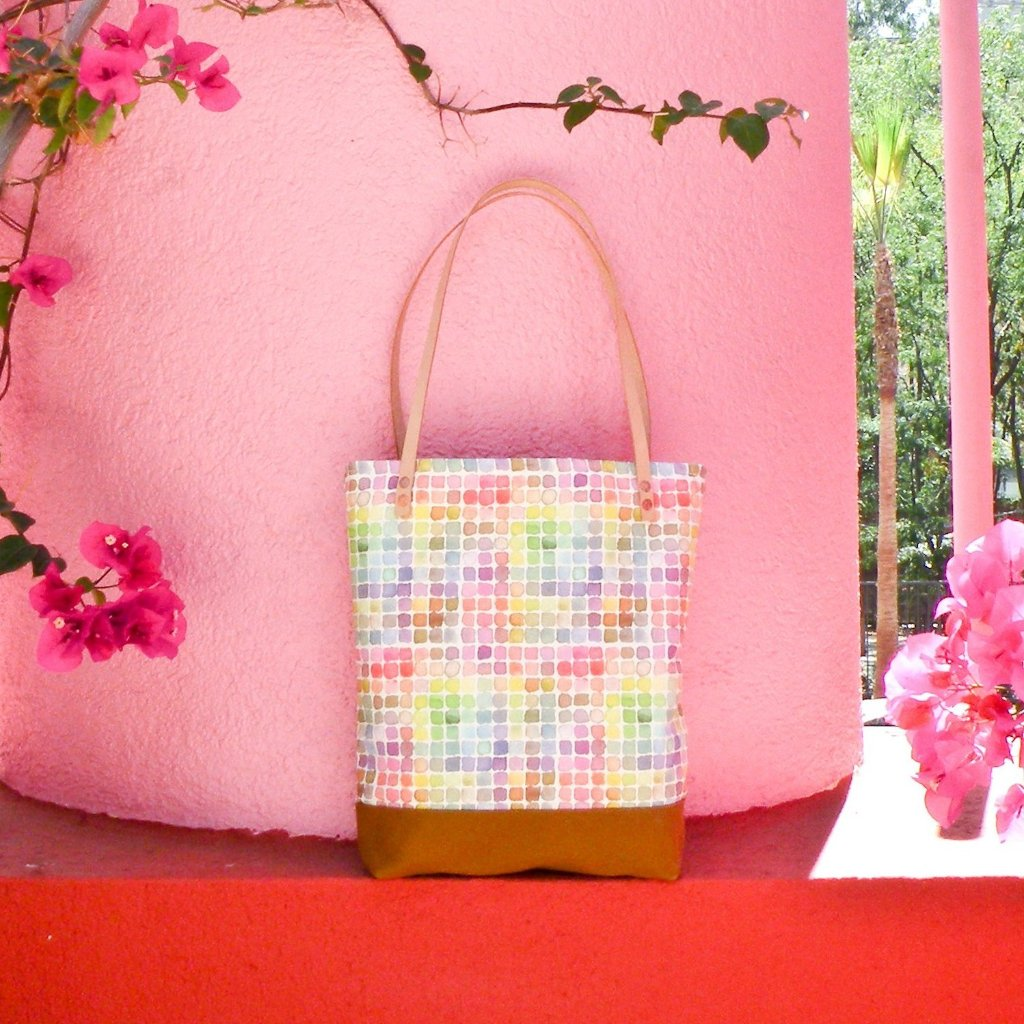 Rainbow Watercolor Tote Bag