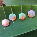 Pastel Metallic Hexagon Necklace