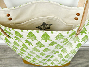 Evergreen Forest Canvas Tote Bag - Starlight Bags