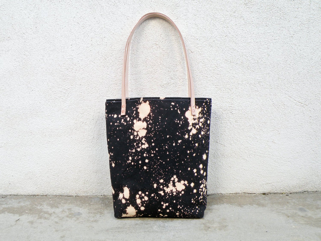 Bleach Dye Canvas Tote Bag - Starlight Bags