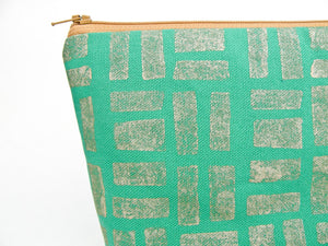 Emerald and Gold Makeup Bag - Starlight Bags