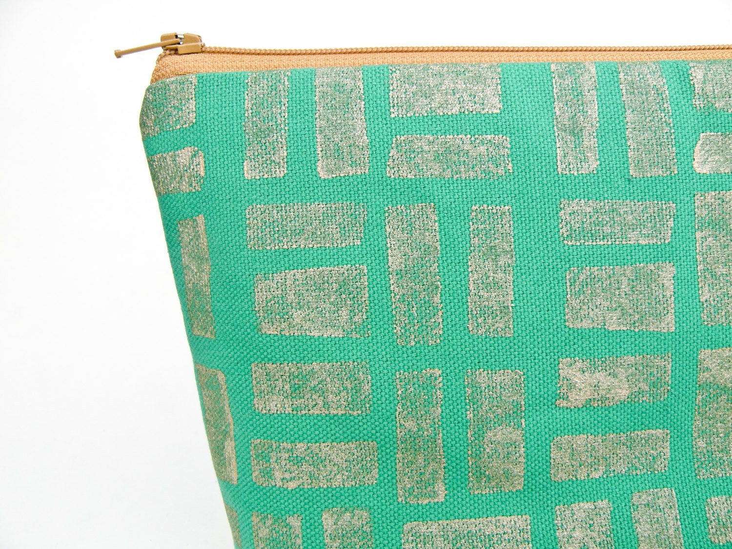 Emerald and Gold Pencil Case - Starlight Bags