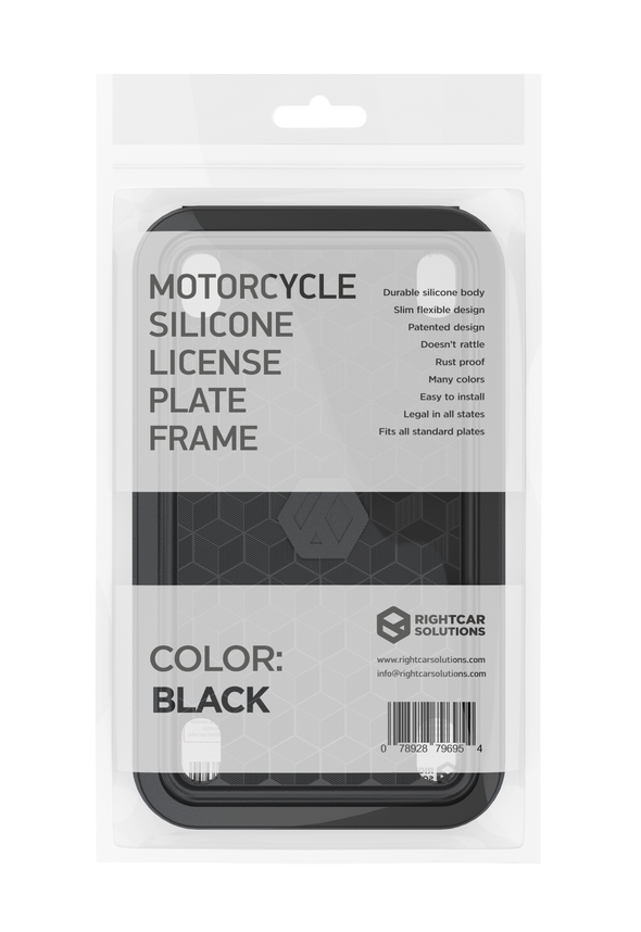 Motorcycle Silicone License Plate Frame