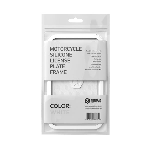 Motorcycle Silicone License Plate Frame - Rightcar Solutions