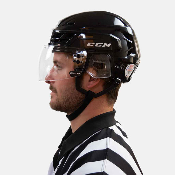 ccm-hockey-referee-visor-vr14-straight-certified-with-black-helmet