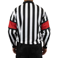 Zebrasclub zr1 hockey referee jersey with red armbands back view