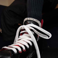 Zebrasclub white non waxed hockey referee laces tighten