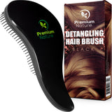 Detangling Hair Brush, Black by Premium Nature