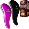Detangling Hair Brush, 2 Pack Black & Purple by Premium Nature