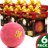 Single Holiday Bath Bomb 6PK