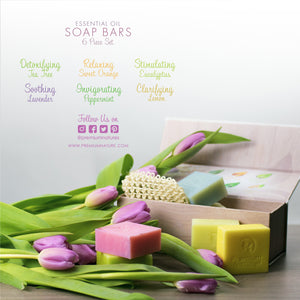 Essential Oil Soap Bars 6 Piece Gift Set