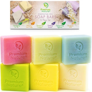 Essential Oil Soap Bars Set by Premium Nature