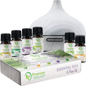 Diffuser & Essential Oils Gift Set by Premium Nature