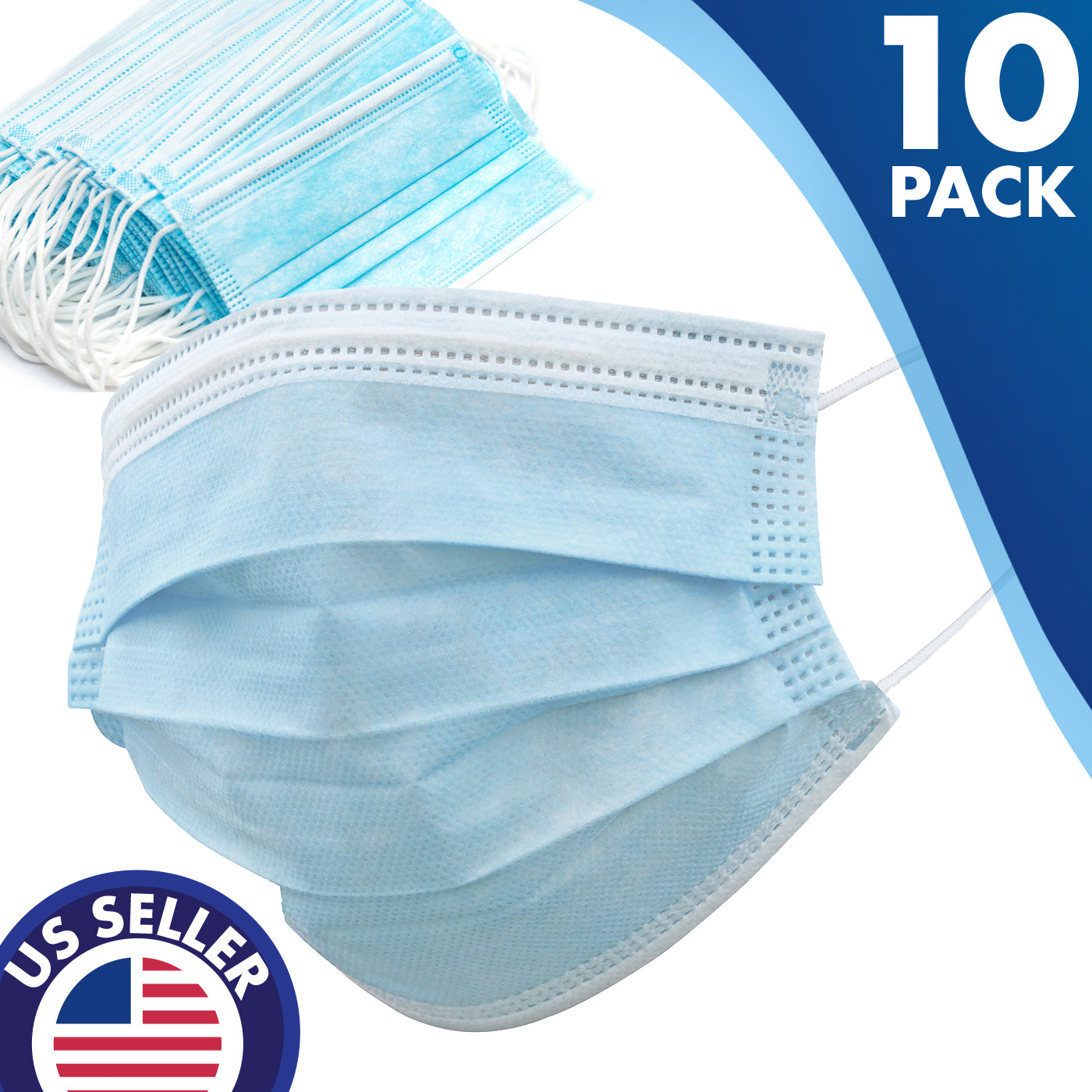 Disposable Ultimate Protect Face Mask Virus Flu Medical Face Mask 10 PK
