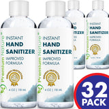 Hand Sanitizer Gel Natural Advanced KILLS 99% OF GERMS MADE IN USA 32 x 4 OZ