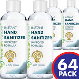 Hand Sanitizer Gel Natural Advanced KILLS 99% OF GERMS MADE IN USA 64 x 4 OZ