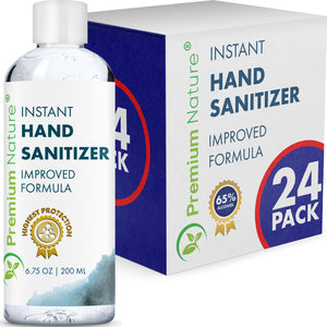 24 Pack Hand Sanitizer Gel Instant Advanced Natural Hand Sanitizer Kills 99% Germs 6.75 OZ / 200 ML