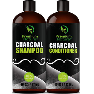 Charcoal Conditioner & Shampoo by Premium Nature