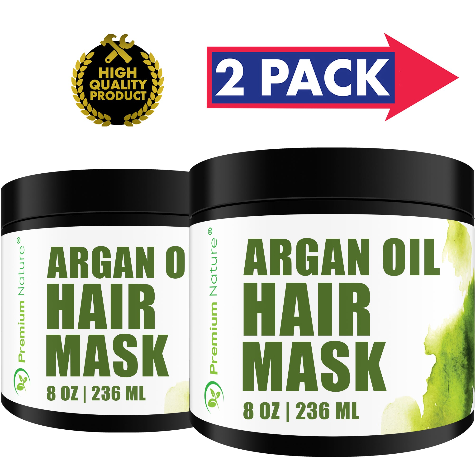 Argan Oil Hair Mask 8 OZ 2 PK