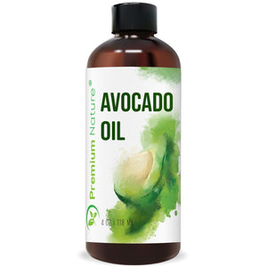 Avocado Oil Natural 4oz Massage Body Oil Moisturizer for Skin Hair & Nails