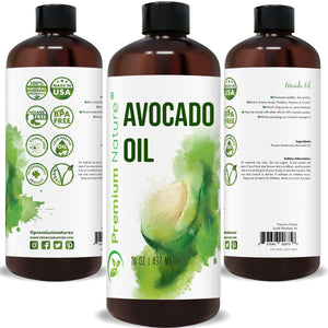 Avocado Oil, 16oz Massage Body Oil Moisturizer for Skin Hair