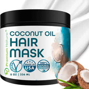 Coconut Oil Hair Mask, 8 oz