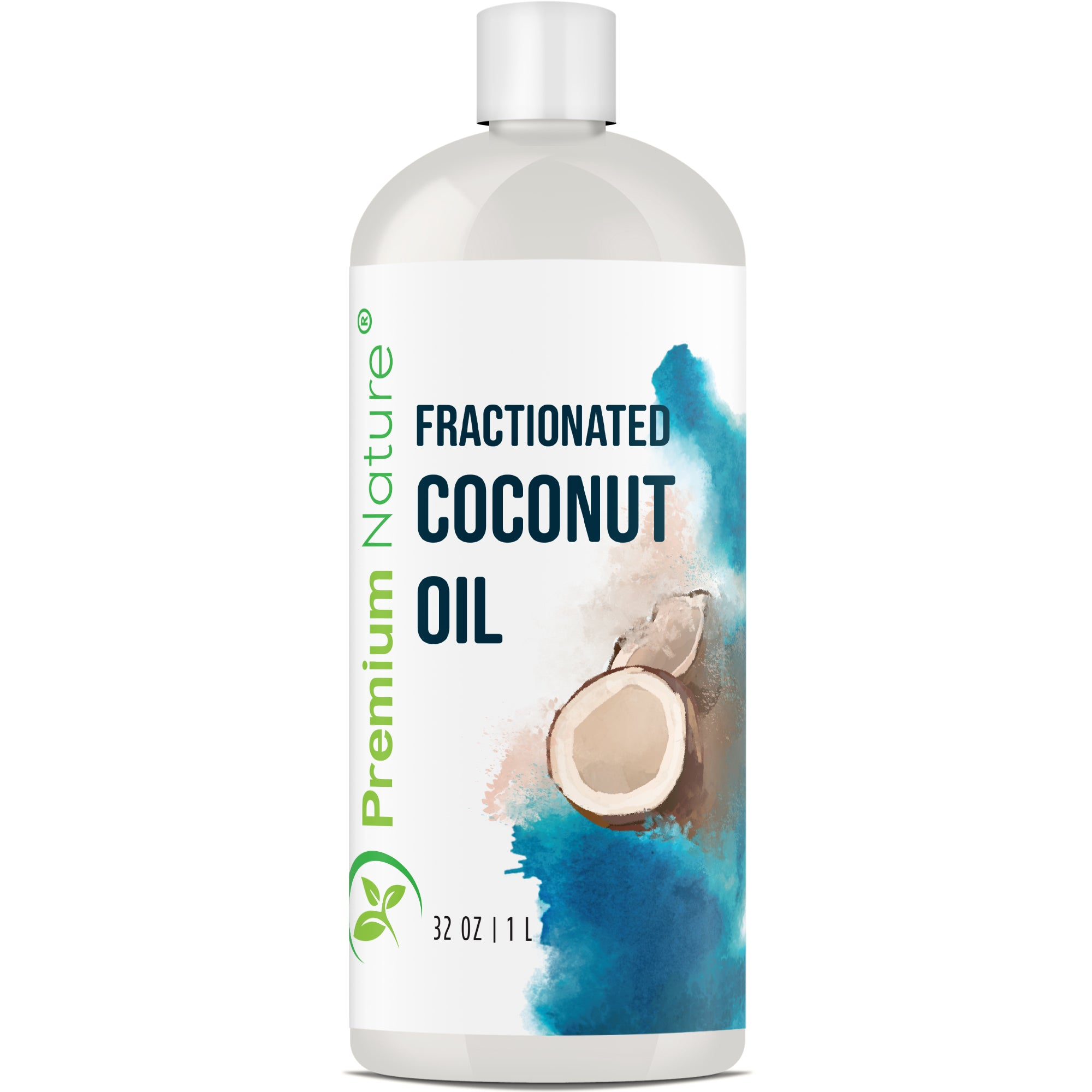 Fractionated Coconut Oil 32 oz Massage Oil - Cold Pressed Pure MCT Oil for Essential Oils Mixing Dry Skin Moisturizer Natural Carrier Baby Oil for Face Hair & Body Therapeutic Aromatherapy Raw