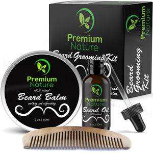 Beard Grooming Kit by Premium Nature