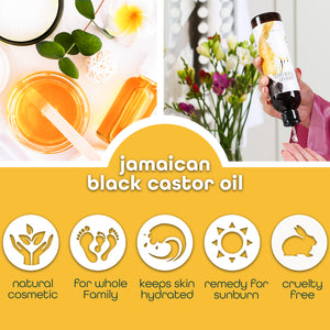 Premium Nature Jamaican Black Castor Oil 8 oz