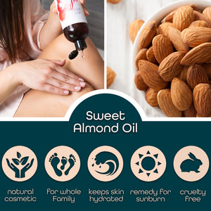 sweet almond oil 16 oz premium nature