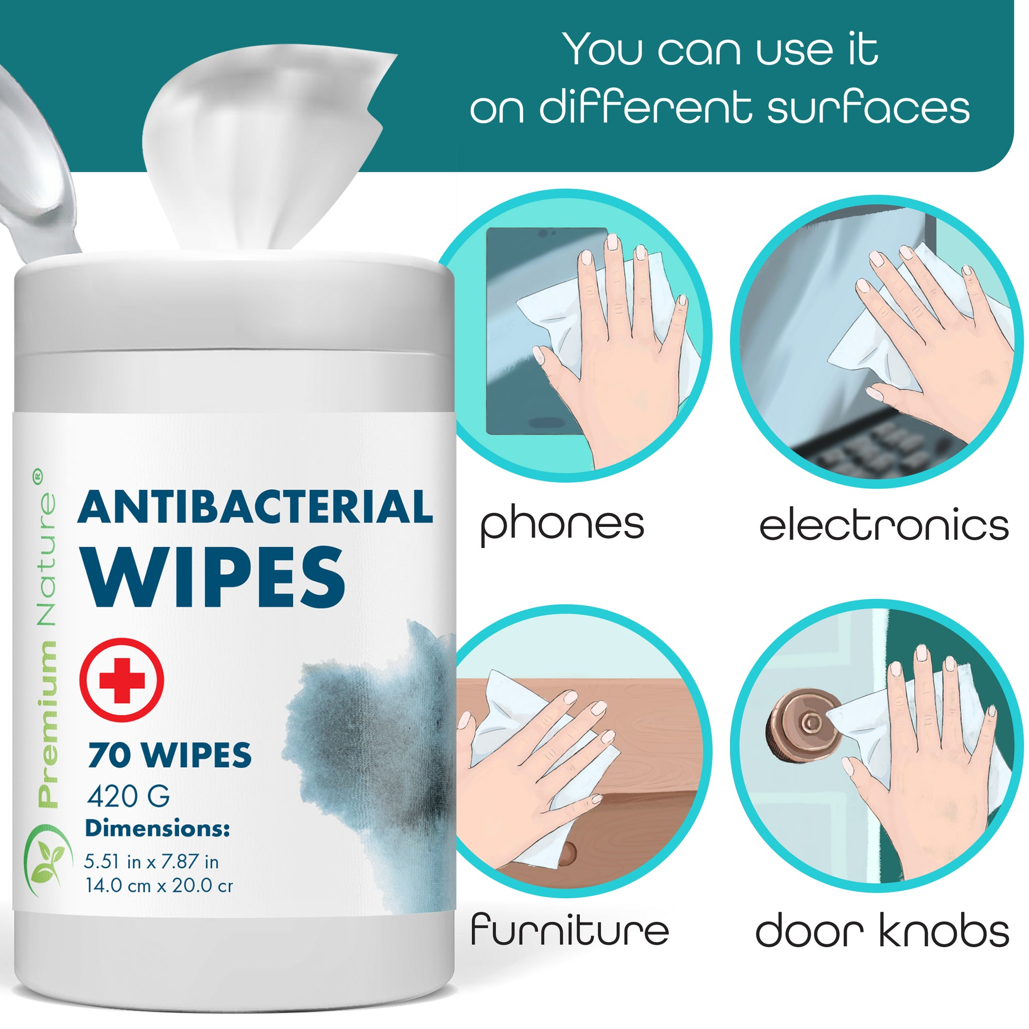 12 Pack Anti Bacterial Wipes