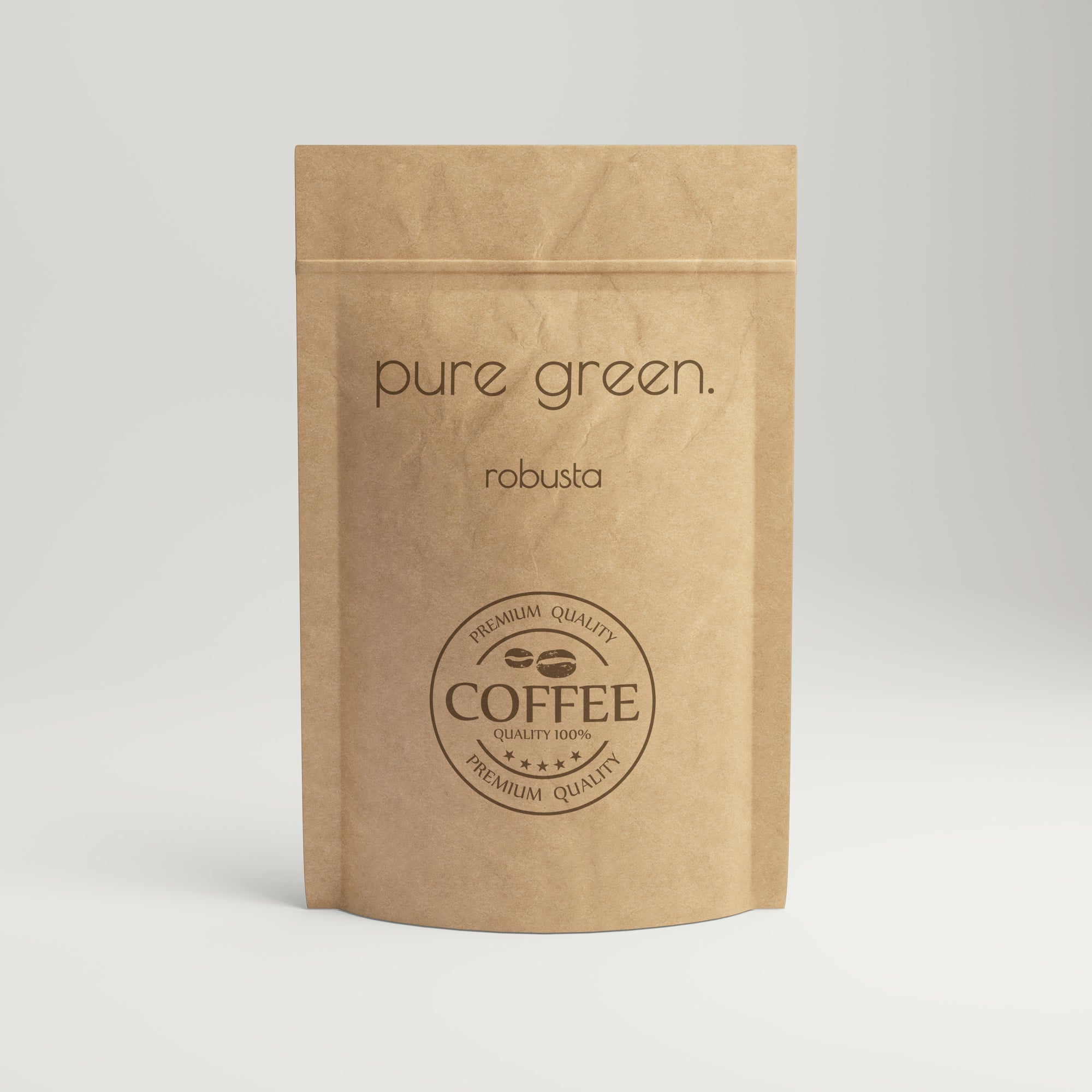 Pure green Robusta