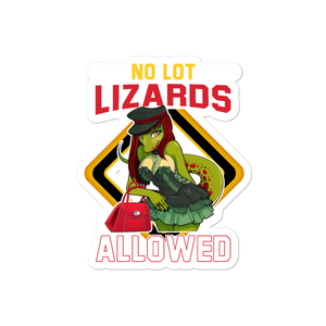 No Lot Lizards Allowed Window Bubble-free stickers