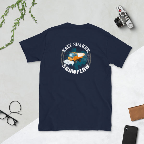 Salt Shaker Short-Sleeve Unisex T-Shirt (on back)