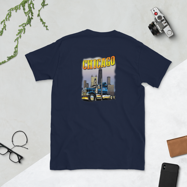Chicago Short-Sleeve Unisex T-Shirt (on back)