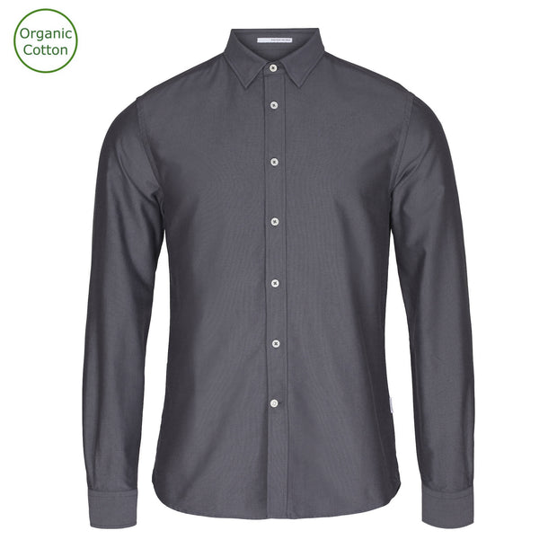 CONSJUS MENS OXFORD SHIRT GREY SLIM FIT