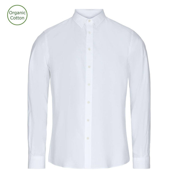 CONSJUS MENS POPLIN SHIRT WHITE SLIM FIT