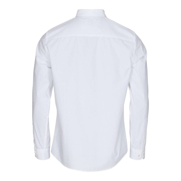 CONSJUS MENS POPLIN SHIRT WHITE REGULAR FIT