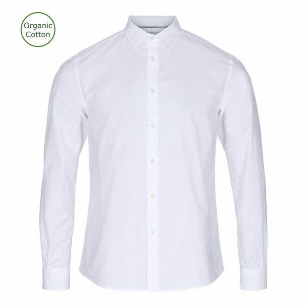 CONSJUS MENS CUTAWAY SHIRT WHITE SLIM FIT