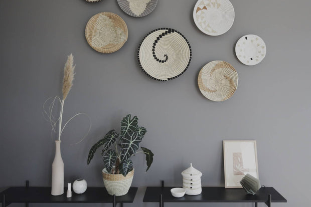 Wall hanging 40 cm - Maua grey